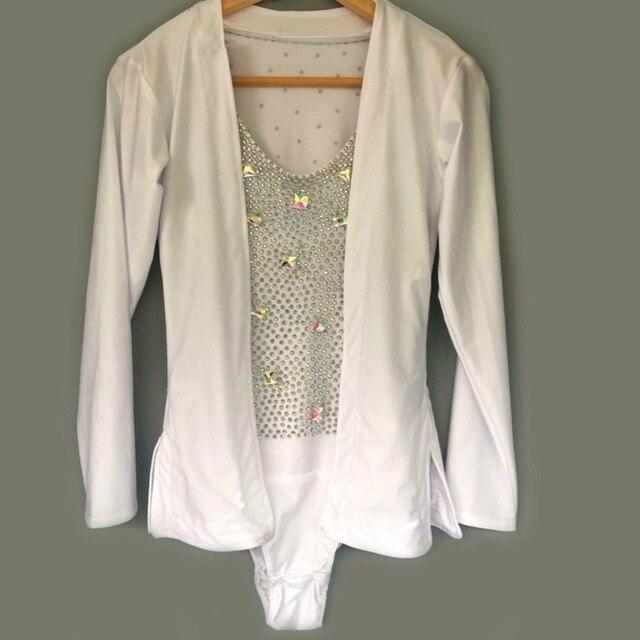 3d6b726337415 2017 Professional Men Latin Tops Leotard Crystal Long Sleeve Custom Size  Shirt Competition Cha cha Rumba Samba Plus Size Leotard