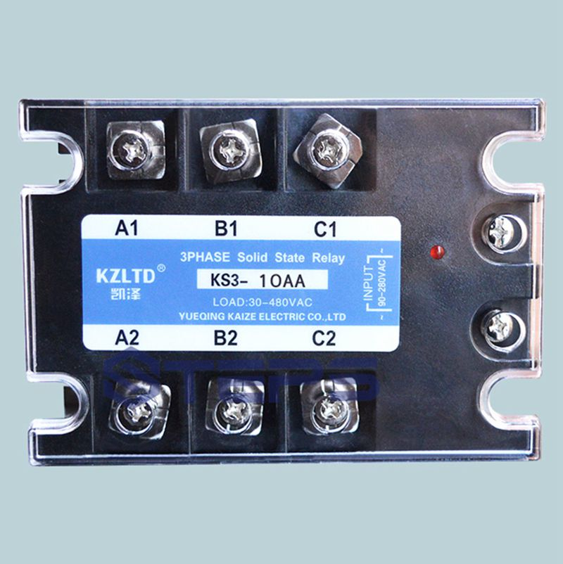 Three-phase solid state relay 10A AC to AC non-contact contactor switch normally open single phase solid state relay ssr mgr 1 d48120 120a control dc ac 24 480v