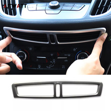 For Ford Kuga Escape 2017 2018 Car ABS Matte Middle Dashboard Trims Interior Central Control Air AC Vent Outlet Frame Cover 1pcs