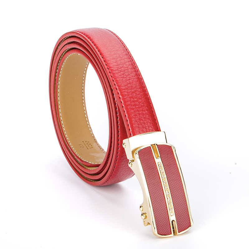 2017 New Diamond Luxury Business Designer   Belts   Women Genuine Real Leather Weddding Strap For Jeans Female Dress Waistband Red