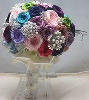 Свадебные цветы Свадебные bouquets2018 новые роскошные свадебные аксессуары сверкающий кристалл свадебные букеты Buque De Noiva оптовая продажа
