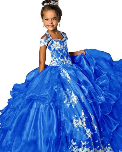 Custom Royal Blue Flower Girl Dress Model Contest Princess Dress Formal Gown lepin nexo knights jestros volcano lair combination marvel building blocks kits toys compatible legoings nexus legoings