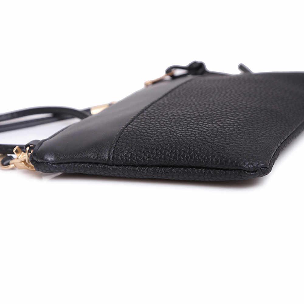 Moda bolsa de ombro 2019 nova tendência estilo médio bolsa de couro cor sólida simples elegante bolsa feminina tote senhoras # s