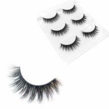 3 pairs / 6 eyelashes natural soft handmade rough eyelash massage