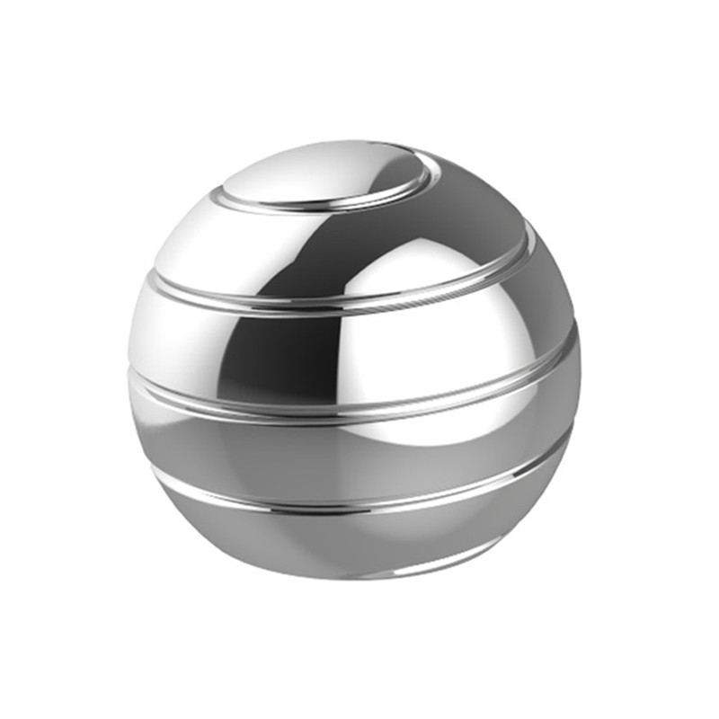 New Kinetic Desk Toy Desktop Decompression Rotating Spherical Gyroscope Fidget Toy Optical Illusion Flowing Finger Toy For Adult
