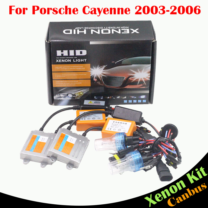 H7 55W HID Xenon Kit AC No Error Ballast Bulb 3000K 4300K 6000K 8000K For Porsche Cayenne 2003-2006 Car Light Headlight Low Beam