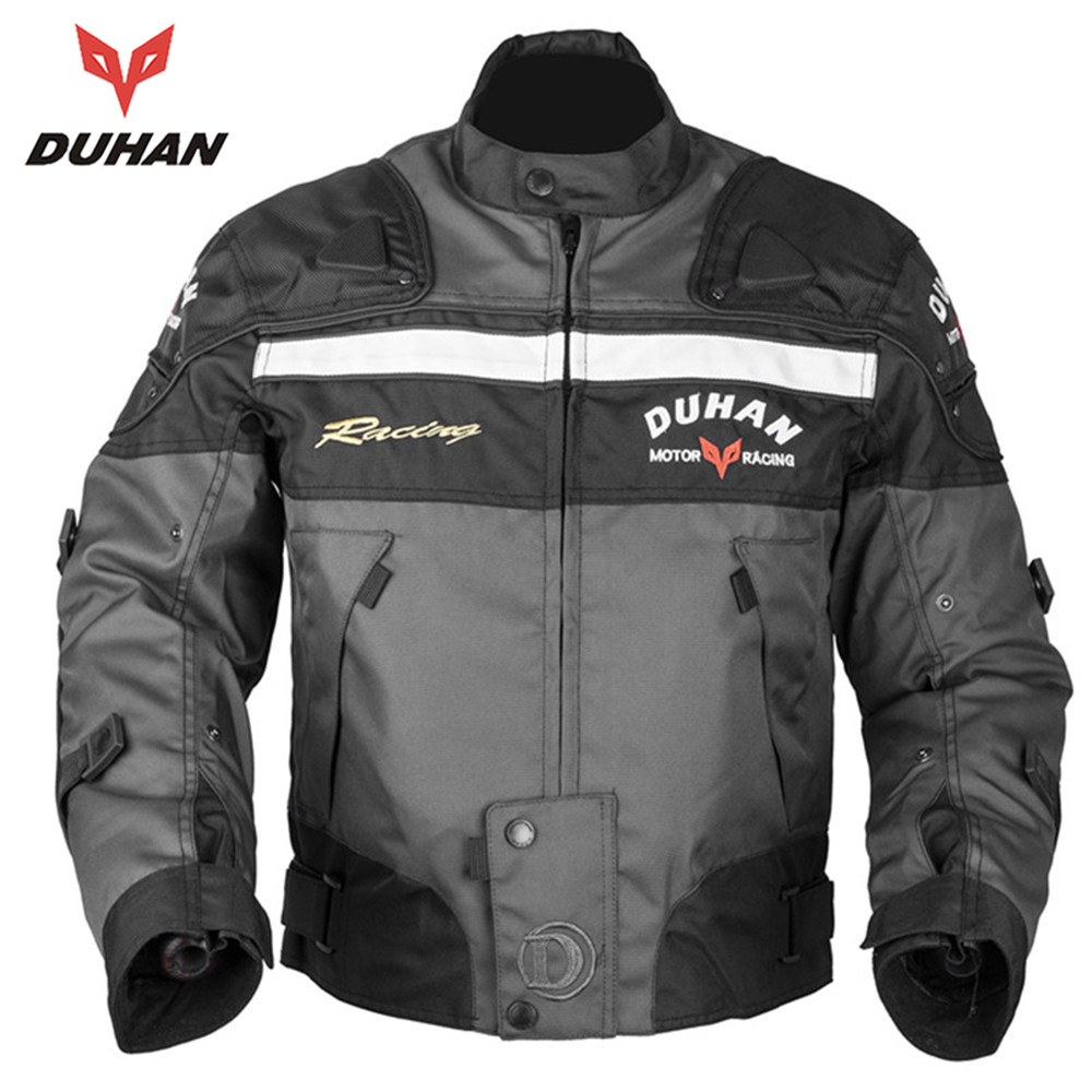 ФОТО DUHAN Motorcycle Riding Armor Motocross Off-road Racing Jacket Men Rider Clothes Motorcycle Protector for Winter and Autumn