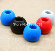 4 Pairs/8pcs Noise Isolating Memory Foam Sponge 5mm Ear Tips For In Ear Headphones KZ earphone headset Earbud Free shipping цены