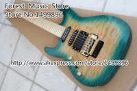 China Custom Shop Quilted Left Handed Suneye Electric Guitars Custom Three Pickups Maple Fretboard Guitar Neck