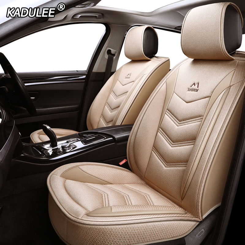 KADULEE flax car seat cover for Alfa Romeo Giulia Stelvio 5 seat covers accessories Car Styling