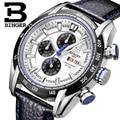Relógios Homens de Luxo Da Marca suíça BINGER Relógio De Quartzo Cronógrafo de Pulso Esportes Relógio de Mergulhador Glowwatch B-1163G