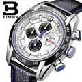 Switzerland Watches Men Luxury Brand Wristwatches BINGER Quartz Watch Chronograph Sports Diver Clock Glowwatch B-1163G