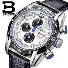Швейцария Часы Мужские Люксовый Бренд Наручные Часы ПЕРЕЕДАНИЯ Кварцевые Часы Хронограф Спорт Diver Часы Glowwatch B-1163G