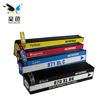 HAOCOLOR 4x Ink Cartridges For HP 970 971 XL 970XL 971XL  970XLBK for Officejet Pro X451dn X451dw X476dnMFP X476dwMFP X551dw