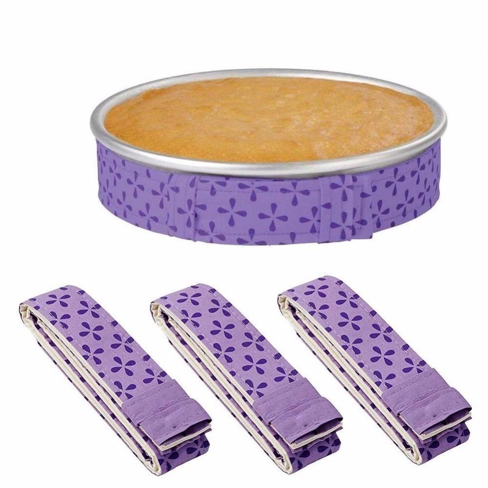Полоски для выпечки ровной формы, полоски с амортизацией для торта, супервпитывающие Плотные хлопковые полоски для выпечки тортов, полоски ...
