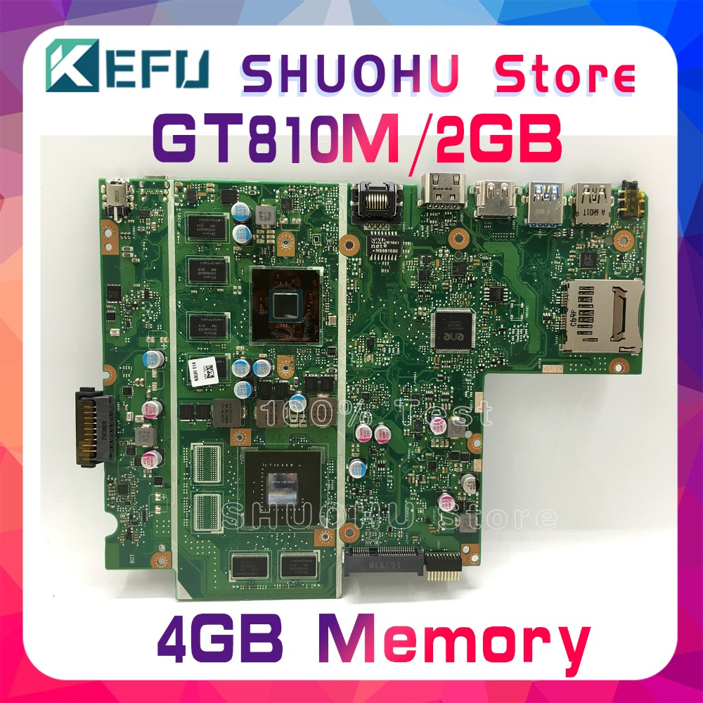 KEFU For ASUS X541SC X541S F541SC CPU/N3160 4GB/Memory laptop motherboard tested 100% work original mainboard