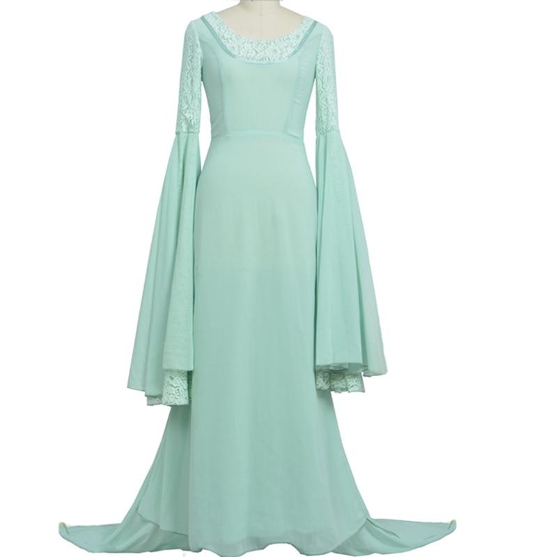 Властелин колец Arwen зеленое платье костюм платье ручной работы на заказ для женщин