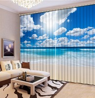 Sunny White Clouds 3d Curtains 3D Blackout Curtains For Living Room Bedding Room Christmas Decorations For