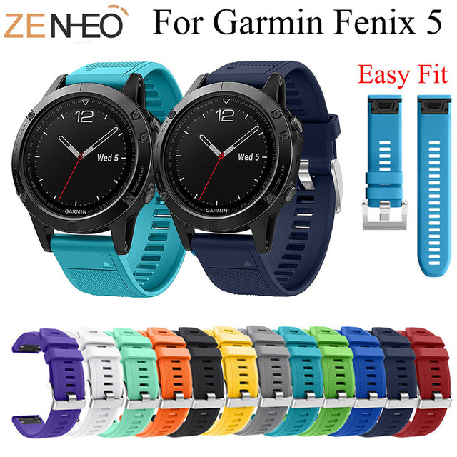 22MM Watchband Strap for Garmin Fenix 5/5 Plus Watch Quick Release Silicone Easy