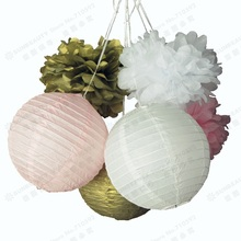 6pcs Paper Crafts Party Decoration  Paper Lanterns/ Tissue Pom Poms Flower Tea Party Showers Birthday Wedding Anniversary Decor dewtreetali car vehicles radio stereo iso to din aerial antenna mast adaptor connector plug car stying accessories