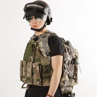 Hot Game Playerunknown Battle Toy Gun Helmet Body armor pubg three level clothes3 camouflage vest saucepan Bullet proof clothes3