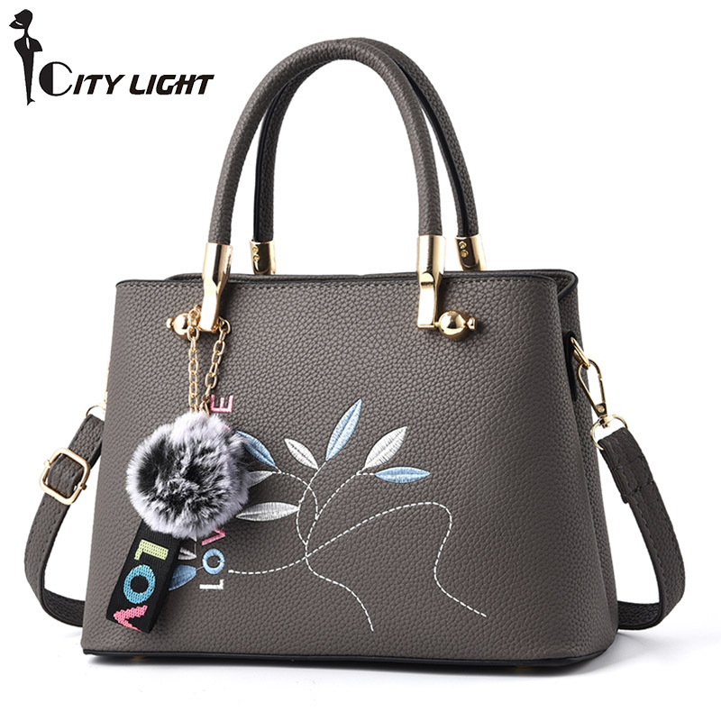 Brand Tote Bags Handbags Women Famous Brands 2018 New Female Fashion Handbag Messenger Shoulder Bag women bag female handbags leather shoulder bag crossbody famous brand tote handbag round flower black cute small fashion bags