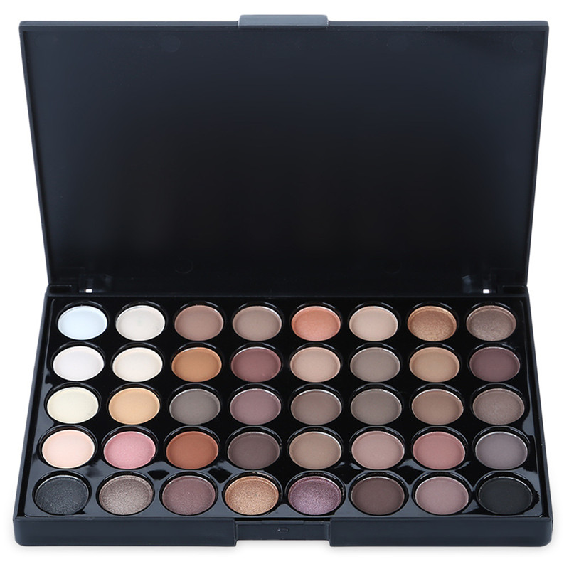 POPFEEL 40 color eyeshadow warm color smoke makeup makeup plate pearl matte multicolor e ...