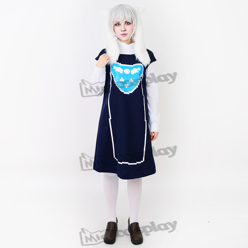 Toriel Cosplay Costume (머리 장식 포함)