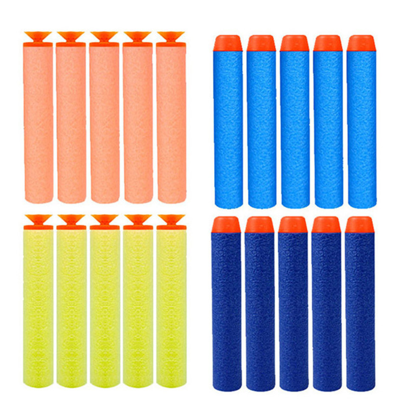 20Pcs Soft Bullet 7 2cm Refill Darts Toy Gun Soft Hollow Hole Head Bullets for Rampage