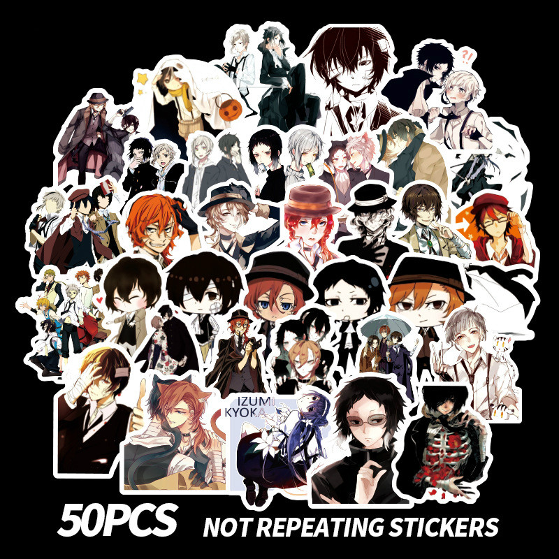 50Pcs  Stray Dogs Stickers Anime Manga Paster  Stickers 2019