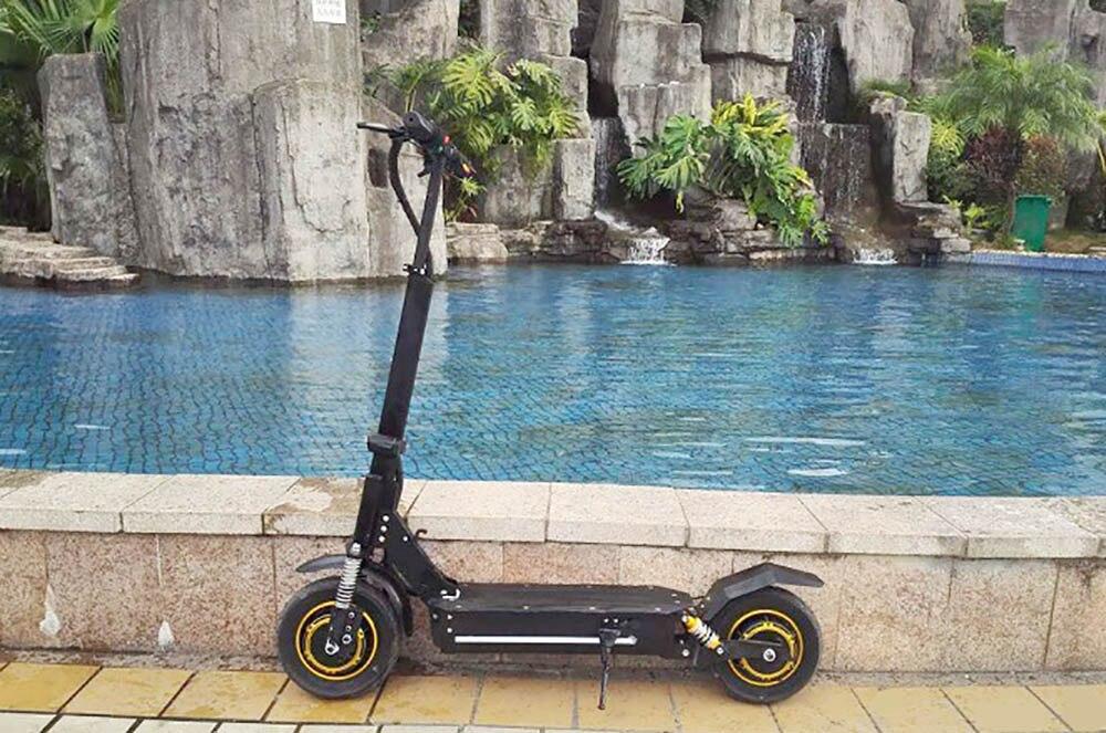 Stand up 1000 W 2000 W double puissance du moteur scooter Citycoco Scooter Électrique avec Batterie Amovible et Forte En Plastique Pied Stand - 3