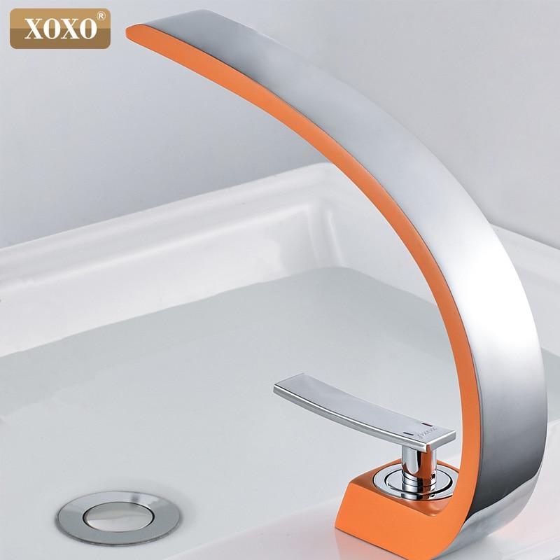 XOXO Basin Faucets Modern Bathroom Mixer Tap Brass Washbasin Faucet Single Handle Single Hole Elegant Crane