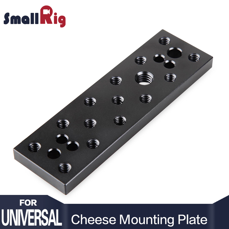 SmallRig Multi-function Mounting Plate Cheese Plate with 1/4 and 3/8 Connections for Sony F970/F550 Battery on Monitors- 904 academic connections 3