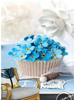 Custom 3D large mural,small fresh and sweet cream butterfly cake ,The kitchen cafe cake shop children bedroom wall paper