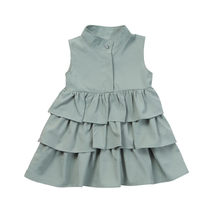 f60772981ce48 Robe d été sans manches pour les filles robe de fête bébé princesse à  volants Tutu princesse robes formelles offre spéciale robe.