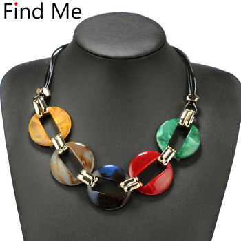 Fashion power Leather cord statement necklace