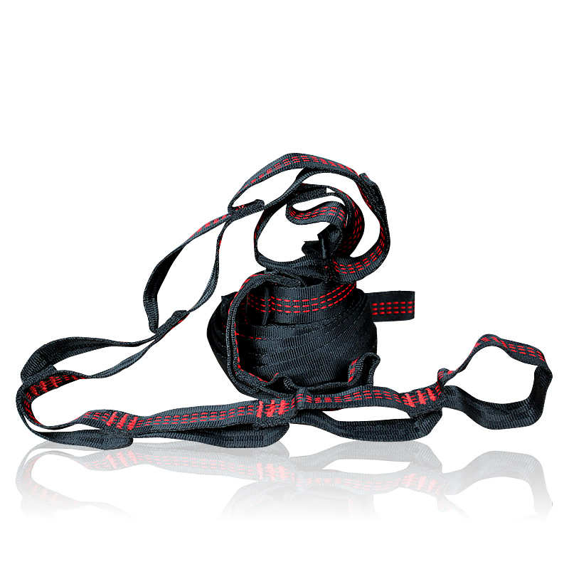 Red C Style Hammock Straps Hammock Tree Strap Rope Belts Outdoor Furniture Accessory Loading 2000kg