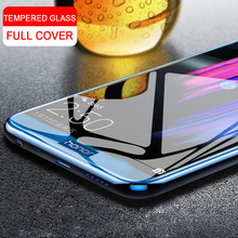 Tempered Glass for Huawei Honor 8 9 lite View 10 7X 7C 6C Pro Full Cover Edge Safety Screen Protective Glass For Honor 9 8 lite protective glass red line for huawei honor 9 lite full screen black
