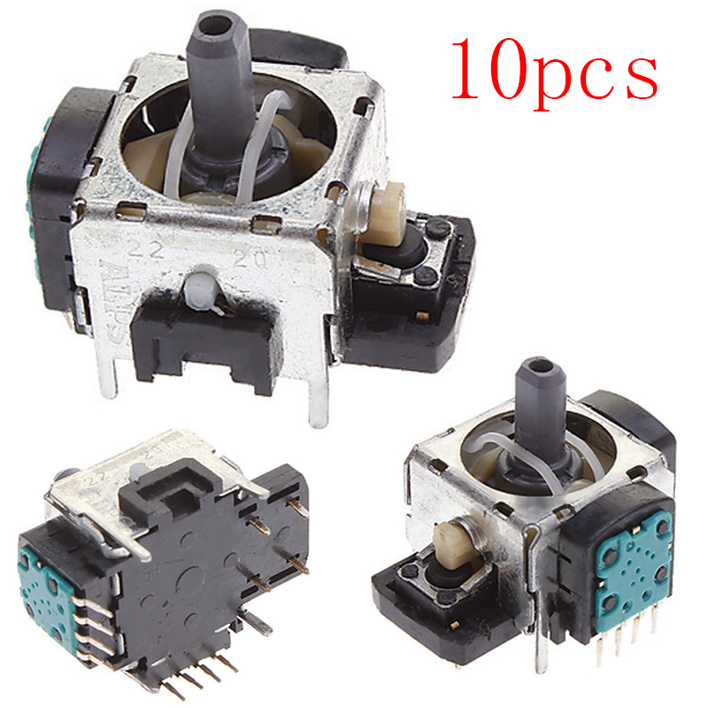 10pcs/lot Repair Part Replacement original new 4pin 4 Leg 3D Gamead Joystick for PlayStation 3 PS3 controller