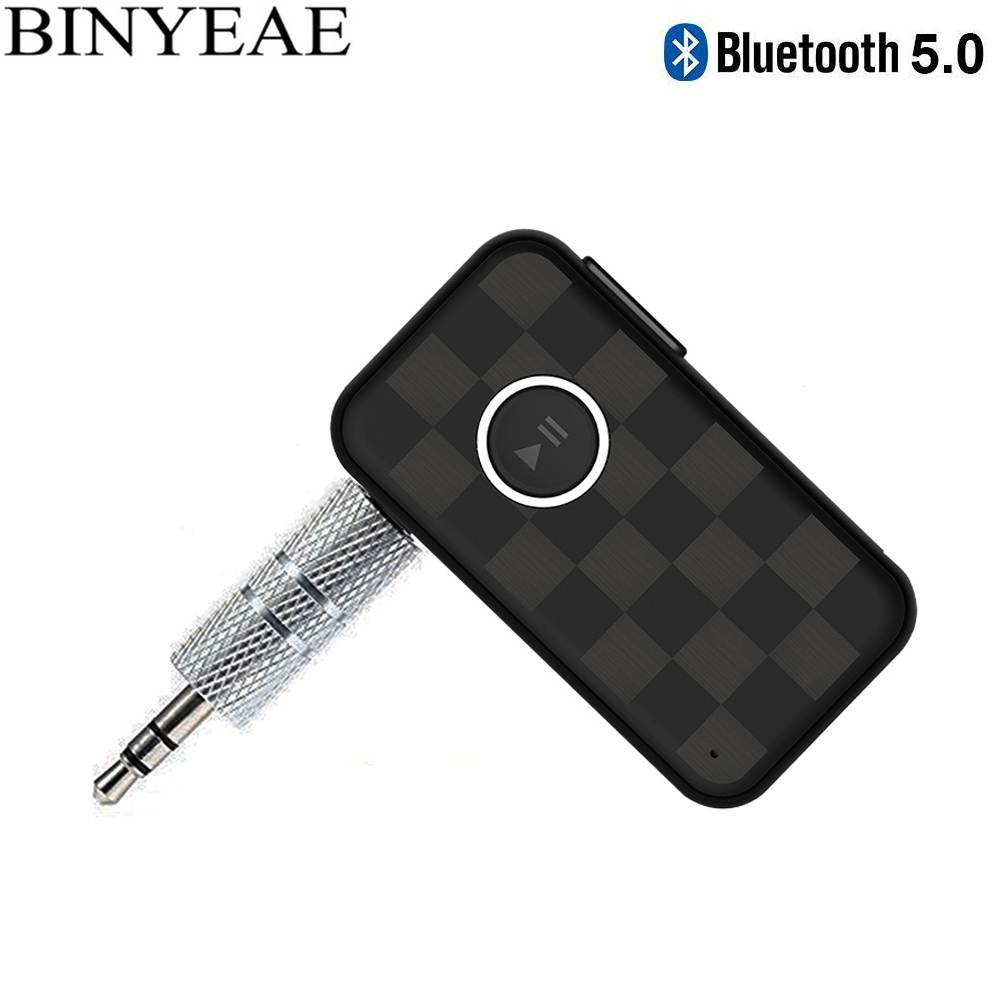 Tragbare Streambot Bluetooth 5,0 Freisprecheinrichtung Aux 3,5mm Auto Auto Kit Mini Wireless Music Receiver Hause Lautsprecher Stereo Audio Adapter Tragbares Audio & Video Funkadapter