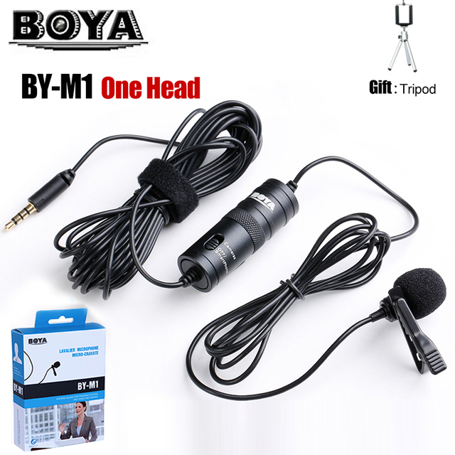 Accessories Lavalier Camera Microphone Lapel condenser Mic BOYA BY-M1 BY-M1DM BOYA