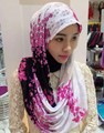 2016 new Flower Print Lace hijab ,scarf ,shawl ,180*70cm. 1 piece ,can choose colors