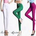 S-4XL plus size 2016 mulheres marca de moda 11 estilo de cintura alta calças lápis Alta elástica calças capris mulheres Calças frete grátis