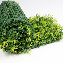 25x25cm Artificial Yellow Long Boxwood Hedges Panel Outdoor UV Proof Plastic Garden Fence Ivy Mat Ornaments