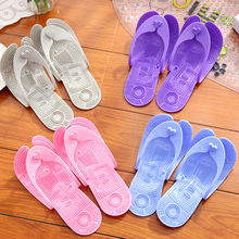 IVI Cute Summer Women & Men's Tourism Hotel Slippers Folding Pocket Slippers Acupuncture Massage Slippers Bathroom Slippers