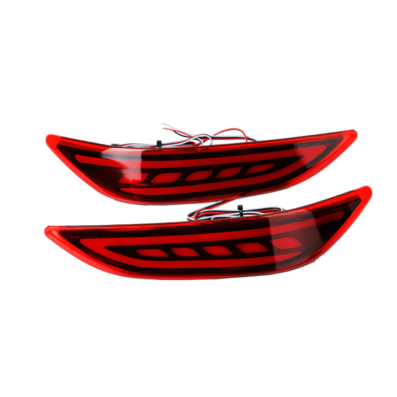 KEEN Car LED Rear Bumper Reflector Light For Honda  City  LED Parking Warning Stop Brake Lamp Tail Lanter universal fog lamp cyan soil bay car led rear bumper reflector red parking warning stop brake light tail fog lamp for honda accord 9th 2014 2016