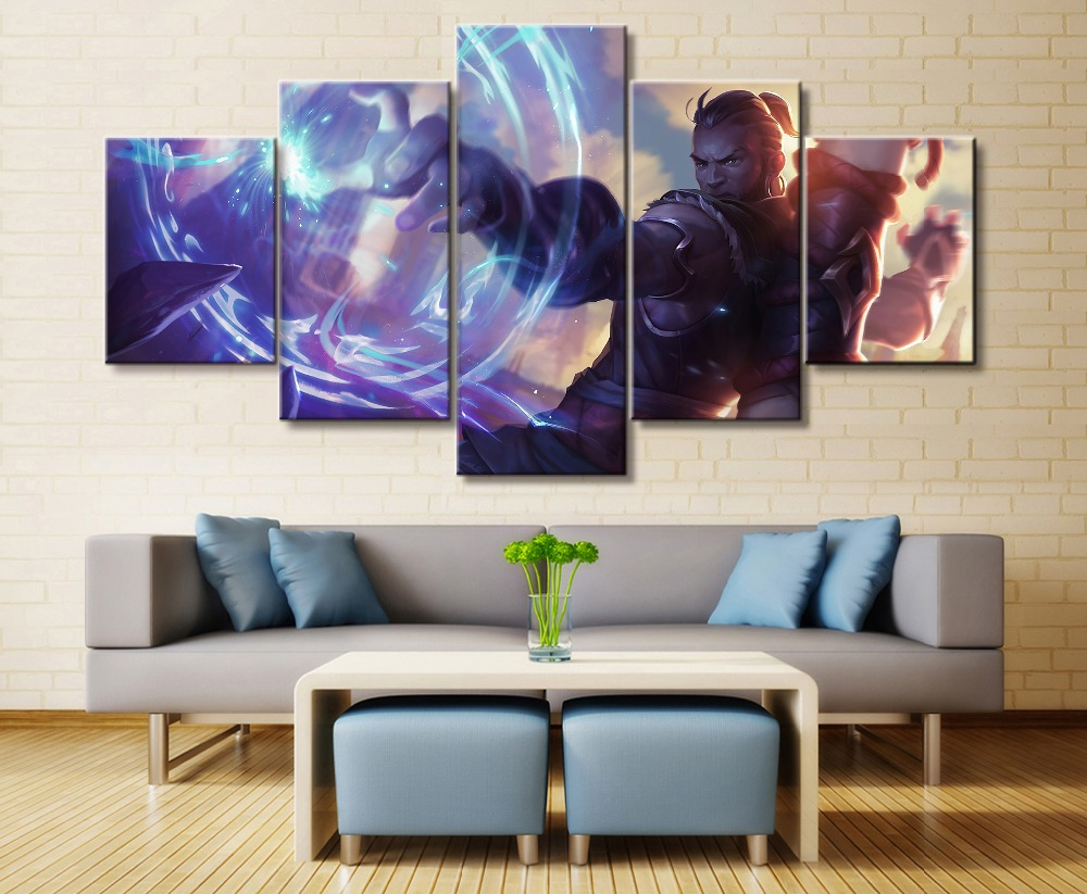 Ryze League of Legends Game 5 Piece HD Print Wall Art Canvas Art For Living Room Decor Painting Wall Art Canvas Decor Artwork in Painting Calligraphy from Home Garden