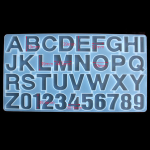 Image 4 - Snasan 1 Pc Siliconen Mal Big Size Letters Nummer Hars Siliconen Mal Hanger Handgemaakte Diy Sieraden Maken Tool Epoxyhars