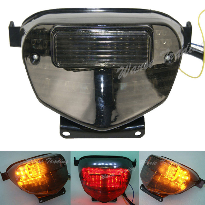 waase For <font><b>Suzuki</b></font> GSXR750 <font><b>GSXR</b></font> <font><b>750</b></font> 2000 2001 2002 2003 Rear Tail Light Brake Turn Signals Integrated <font><b>LED</b></font> Light image