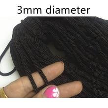 Polypropylene rope PP crochet 3mm diameter black spot 900D handbag pull 100 meters yarn